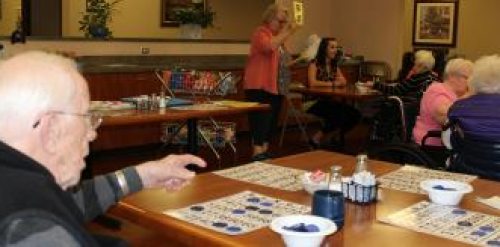 Fun at the nursing home with BINGO